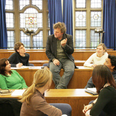 Students and Professor Mark Horton in a seminar