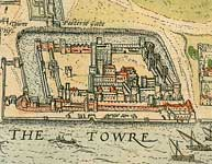 Detail from Map of London from Civitates Orbis Terrarum, published 1572