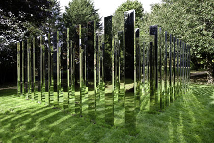 Jeppe Hein's 'Follow me' sculpture
