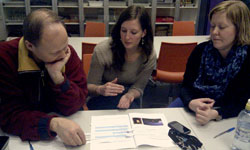Science teachers in Oslo working a Norwegian translation of the activities