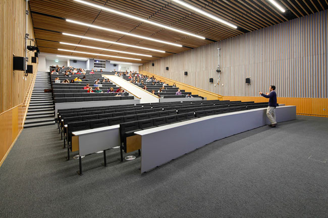 students being taught in a lecture