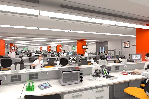 mockup of new laboratories