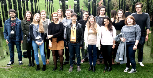 Neural Dynamics students standing in the Royal Fort Gardens.