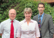 Some of the members of the expansion planning team: Professor Stephen Prime (left), Dr Jane Luker and Matthew Rodieck