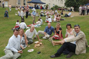 1976 graduates celebrate with a garden party in the grounds of Royal Fort House