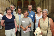 1966 graduates celebrate with a lunch in the Great Hall of the Wills Memorial Building