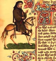 A portrait of Chaucer from the Ellesmere manuscript of The Canterbury Tales
