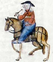 The Wife of Bath, from the Ellesmere manuscript