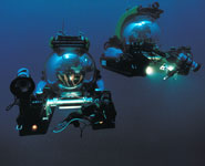 A pair of Deep Rover submersibles