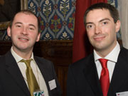 Stephen Willliams MP (left) and Dr Nic Shannon at the House of Commons.