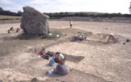 Excavations in 2000 at the end of the Beckhampton megalithic avenue