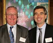 Professor Eric Thomas (left) and Roger Holmes at the launch