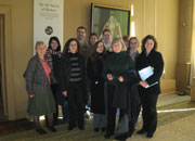 The students with Dr Tania String at Montacute House