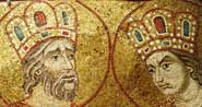 Detail of a medieval mosaic from the Basilica di San Marco in Venice