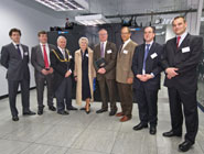 Guests at the HPC opening in the new HPC machine room