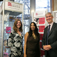 From left to right: Tania Rawlinson, Director of Campaigns and Alumni Relations, Jaya Chakrabarti, Founder of nameless Digital Creatives, Dr Neil Bradshaw, Director of Enterprise