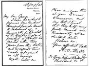 Photograph of the original letter from HO Wills