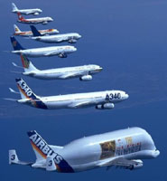 Airbus fleet reproduced by kind permission of Airbus UK
