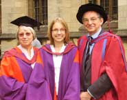 From left: Dr Pauline Emmett, Dr Clare Emmett and the Revd John Emmett