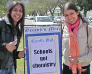 Dr Linda Sellou (left) and Preeti Kaur in Grahamstown