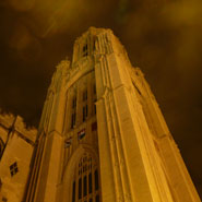 Wills Memorial Building unlit as part of WWF Earth Hour.