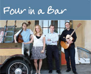 The 'Four in a Bar' jazz quartet CD cover