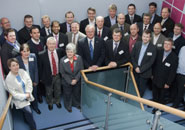 UoB staff with industrial representatives at the launch event.