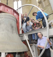 Bell-ringers preparing for the big event on Sunday