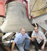 Mike Dury and Charles Clapham doing a final maintenance check on Great George