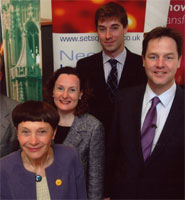 Nick Clegg (on right) at launch of Green Bonds scheme