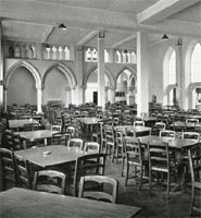 The refectory in 1949. Previously the old Venetian Gothic Museum and Library, today Brown's restaurant