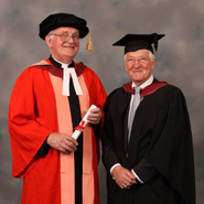 From left to right: The Very Reverend Robert Grimley and Mr John Bailey
