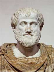 Marble bust of Aristotle. Roman copy after a Greek bronze original by Lysippus c. 330 BC.