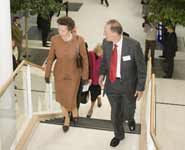 HRH Princess Anne with Dr Peter Wilde, UH Bristol, Head of the Division of Specialised Services