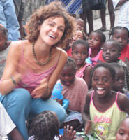 Student Claire Bertaud during her year abroad in Beira, Mozambique