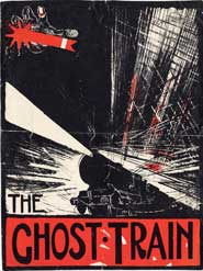 Poster for a production of The Ghost Train. Images courtesy of the University of Bristol Theatre Collection