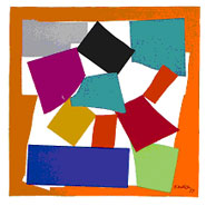 Henri Matisse: L'Escargot (1954) Lithograph from gouache cut out.