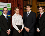 Image of the AviFilter team: (from left to right) Chris, Rebecca, Daniel, Graham.