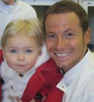 Ashlee Downes with Joe Swash at the University