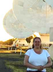 Dr Elizabeth Stanway at the Australia Telescope Compact Array in Narrabri, New South Wales