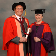 From left to right: Mr Mike Peirce and Professor Kim Etherington