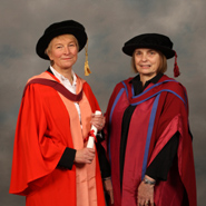 From left to right: Professor Patricia Broadfoot and Professor Rosamund Sutherland