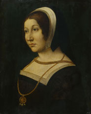 Unknown woman, formerly known as Margaret Tudor (1489-1541) by an unknown artist