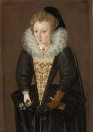 Unknown woman, possibly Lady Arabella Stuart (1575-1615) by an unknown artist
