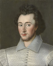 Probably Sir Robert Dudley (1574-1649), formerly known as Sir Thomas Overbury (1581-1613) by an unknown artist