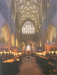 The choir of Wells Cathedral