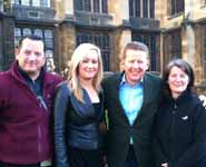 From left to right: Gary Nott, Senior WMB Porter, Caroline Clancy, Press Officer, BBC Breakfast presenter Bill Turnbull and Joanne Fryer, Press Officer