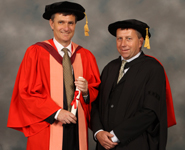 From left to right: Professor Michael Malim and Professor Peter Mathieson