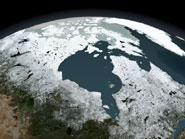 Satellite image of the Hudson Bay region