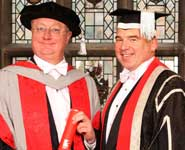 Professor Eric Thomas (left) with UWE Vice-Chancellor Professor Steve West